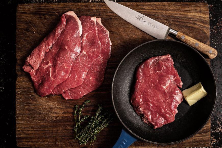 grass fed minute steak 250g