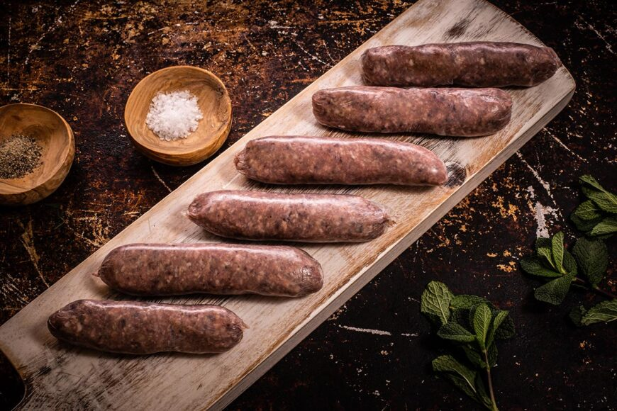 grass fed lamb sausages