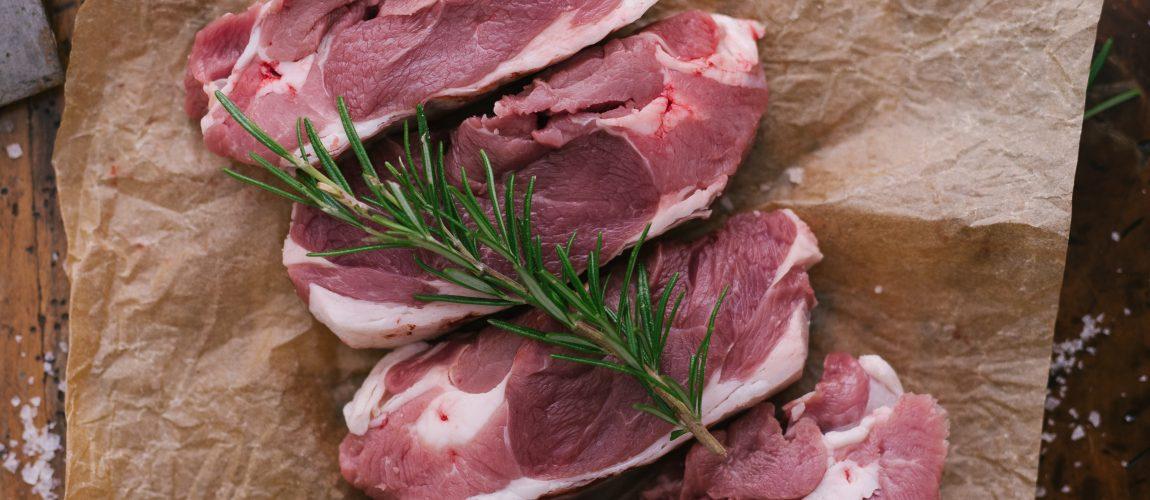 The Dorset Meat Company-Lamb Steaks and tahini