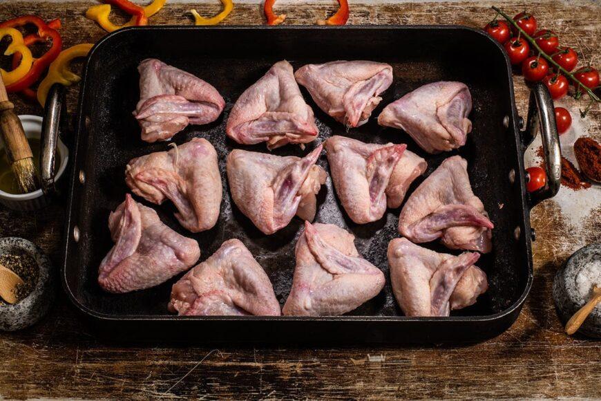 grass fed free range chicken wings