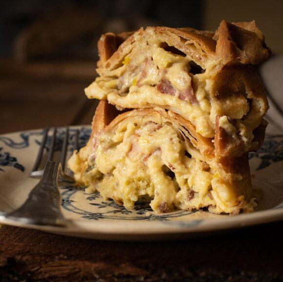 bacon leek cheese pie