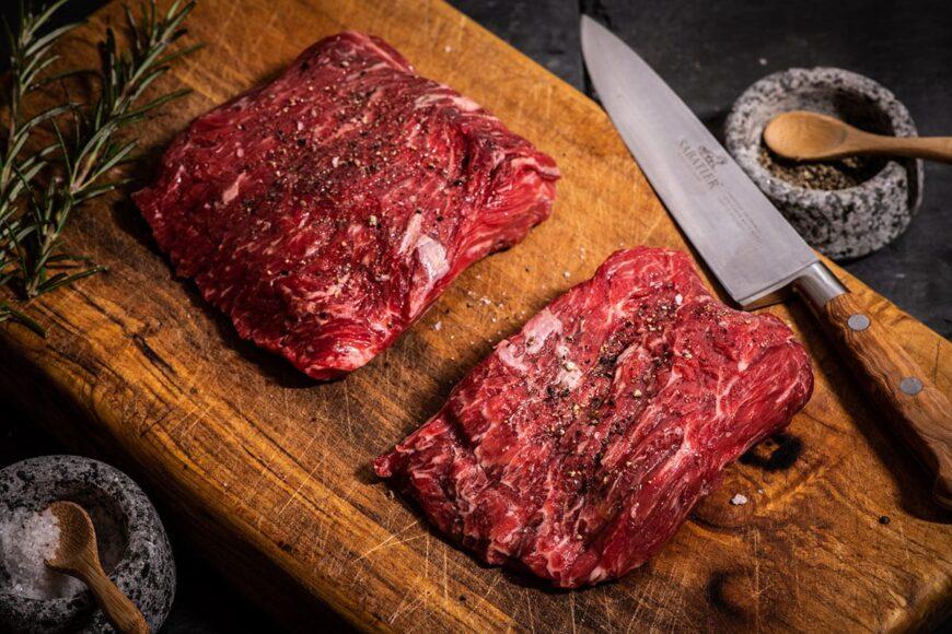 grass fed bavette steak