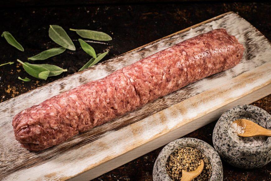 free range grass fed sausage meat