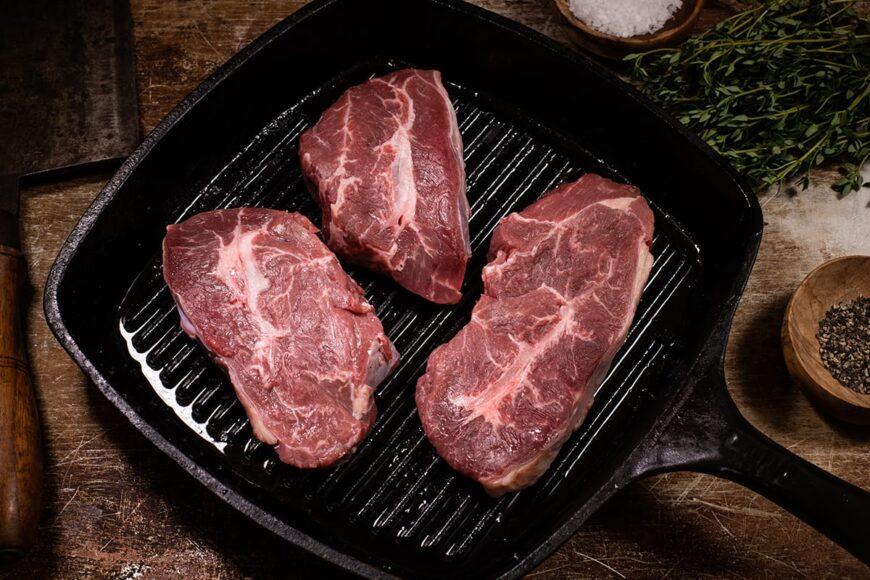 grass fed flat iron steak, feathekrblade steak