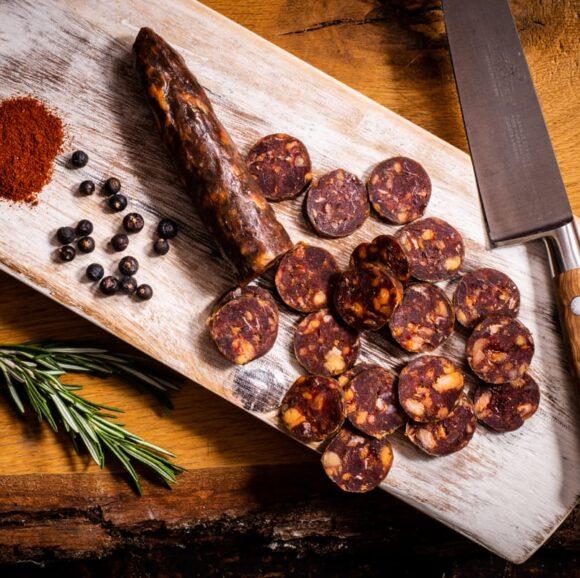 dorset charcuterie - venison pepperoni